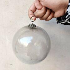 """Antique Kugel 5"""" Silver Round Christmas Ornament Germany Original Old Kugel"""