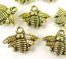 21mm Honey Bee 10 Bee Charms Antique Silver Animal Charms Bumble Bee