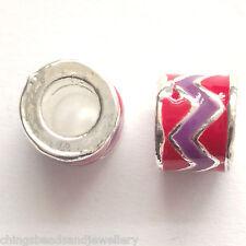 10 émail tube perles 8 mm Pour European Bracelet