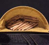 VINTAGE CLOTHESPIN HANGING OPEN BAG 1950's RARE FIND PLUS 5 DOZEN CLOTHESPINS