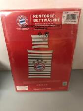 FC Bayern München FCB Bettwäsche 135x200 80x80cm Streifen Neu / Ovp