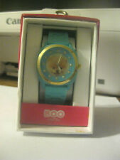 New in box Boo The Worlds Cutest Dog Pomeranian Turquoise Blue Wrist Watch