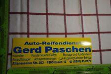Alter Aufkleber Auto Reifendienst GERD PASCHEN Stadt Essen