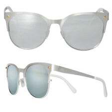 Seaspecs Sunglasses Matte Silver Frame With Silver Mirrored Polarized Lenses