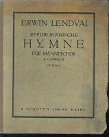 Erwin Lendvai ~ Republikanische Hymne ~ für Männerchor a cappella