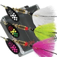 Mepps Black Fury Dressed Bass Fishing Lure Pocket Pack - KBF-B-D - Pack Of 3