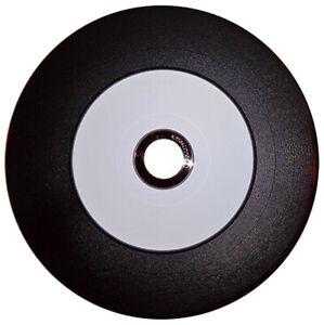 10-Pak Ritek Digital-Vinyl White Inkjet Hub Diamond Black Record Surface CD-R's
