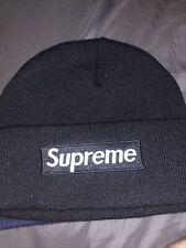 SUPREME New Era Black Box Logo Beanie