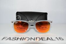 RayBan Authentic LightRay Clear Orange Mirrored RB4210 646/6Q 50mm Sunglasses