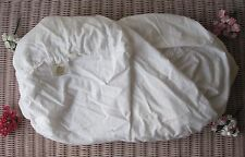 "Rare! 100% Luxury *Organic* Cotton Linen Fabric White 70"" x 102"" (180cm x 260cm)"