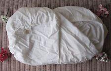"Rare! 100% Luxury *Organic* Cotton Linen Fabric White 70"" x 102"" (180cm x 260cm)"