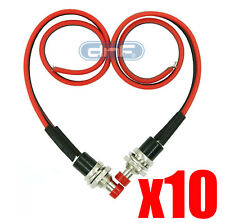 10 PACK PRE-WIRED MINI MOMENTARY PUSH BUTTON 12V ON OFF N/O LOCKLESS SWITCH SPST