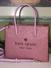 Kate Spade Trista Glitter Pink Bling SHOPPER 2 Way Tote Bag - WKR00184