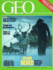 geo - N°105 - novembre 1987 - Grand nord Gaza Juifs de pologne Ariane Iles marqu