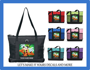 GOOFY BEING SILLY PERSONALIZED NAME TOTE PURSE SPORTS GYM SCHOOL DIAPER BAG