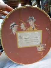 Vintage Adam Hats 1939 Men's Hat Box Sports Memorabilia on outside