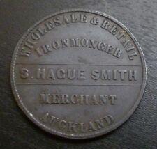 Nueva Zelanda, Auckland, S. haya Smith Hojalatero un centavo Token década de 1860