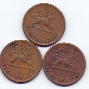 1930/31 Ethiopia 10 Cents Haile Selassie 3 Coins