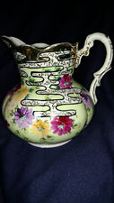 Nippon Pitcher - Floral Decoration with Gold and Black Highlights