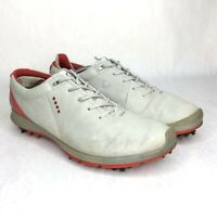 ECCO Yak Leather Natural Motion Mens Size EUR 44 US 10 Softspikes Golf Shoes