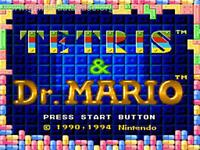 Tetris & Dr. Mario Super Nintendo Snes Cleaned & Tested Cart Only Authentic