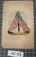 ** (RARE) Vintage 1863 Civil War Valentine's Day Card AE-93