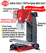 SIEG SX2.7 HiTorque Mill Drill 750W Brushless Motor Variable Speed,Tapping Mode