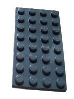 Lego 10 Stück dunkelgrau (dark bluish gray) Platte 4x8 3035 Neu Platten Basics