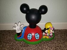 Disney Store Mickey Mouse Clubhouse Piggy Bank with Figures Rare collectible