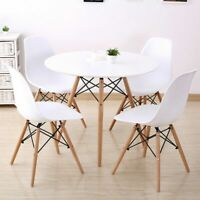 5 Piece Dining Table Set with 4 Chairs Wood Metal Kitchen Breakfast Furniture US