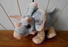 TRICERATOPS beanie soft toy dinosaur, plush/comforter WILD REPUBLIC