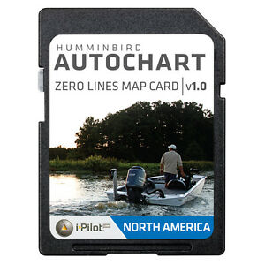 Humminbird North America AutoChart Zero Lines Map Card