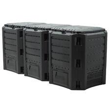 Compostiera da giardino Compostaggio Plastica Nero 1200L