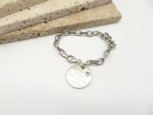 Sterling Silver If Your Heart Is Open Love Will Find Way In Charm Bracelet FF54