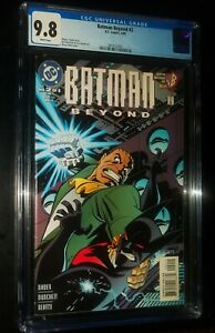 BATMAN BEYOND #2 1999 DC Comics CGC 9.8 NM/MT White Pages!