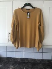 New Ladies Ochre /mustard Colour Top Size 16 From M&S