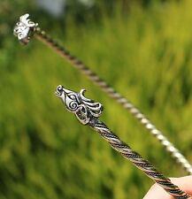 FIANNA Celtic Deer TORQUES Stag Herne Cernunnos Pagan Brass Necklace TORC Irish