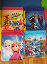 NEW FROZEN Drawstring Bag Use as a Library/Swimming/School Bag children PARTY