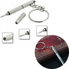 2X MINI Handiest Key Chain Ring With Screwdriver For Repair Glasses Phone Watch