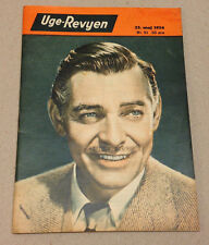 CLARK GABLE ACTOR FROM MGM FRONT COVER VINTAGE SMALL RARE Danish Magazine 1954