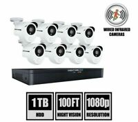 Night Owl 8-Channel 8-Camera 1080p Wired DVR Security Camera System with 1TB HDD