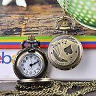 Hot Vintage Retro Bronze Gift Necklace Chain Metal Quartz Pocket Watch Pendant