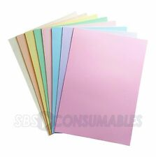 100 Sheets - Lasercol Pastel Assorted A4 Premium Colour Craft Paper 80gsm. 53230