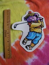 Grateful Dead Dancing Bear Playing Golf Window Sticker 5 Inches Tall