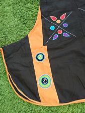 NEU - Damen Patchwork TrägerKleid Asymmetrisch Hippie Boho Kleid braun - S M