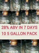 10 5 GALLON PACKS ETHANOL YEAST MEAD MOONSHINE TURBO BULK DISTILLERS E85 BULK 50