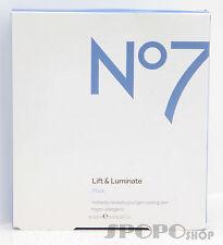BOOT'S No7 Lift & Luminate Intensive Serum Mask 4pcs x 22.5ml 100% Authentic
