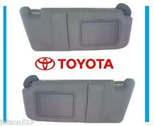 Toyota Camry 07-11 Sun Visor Set Left & Right Gray With Vanity Light Updated