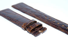 Brown New Genuine Rolex Leather Crocodile Strap Band 20mm Fits Datejust/Day-Date