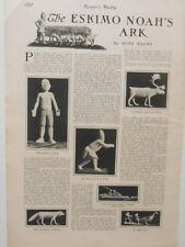 Harper's Weekly Page Eskimo Noah's Ark Wood & Walrus Bone Carving  Toys 1901
